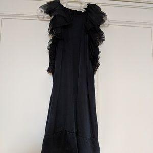 Maje silk black dress S